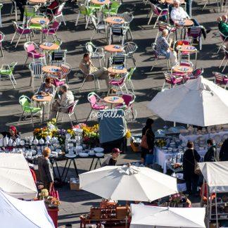 Markt von oben - Papillu