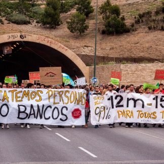 Rescatemos personas – Demo – Spanien – Malaga - Papillu