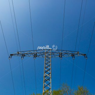 Strommast - Papillu´ Lampen Design, Grafik und Fotografie